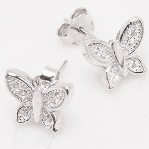 Pendientes de Mariposa con circonitas