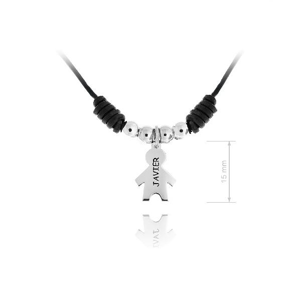 diseño distintivo precio justo diseño profesional Collar de Macrame niño nombre grabado