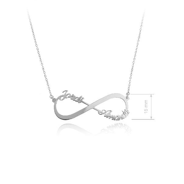 c74b755c9ad5 Collar infinito con 2 nombres personalizados -