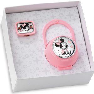 Portachupetes y chupetero Disney Rosa Minnie