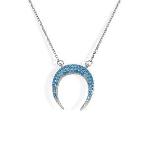 Gargantilla Luna Azul