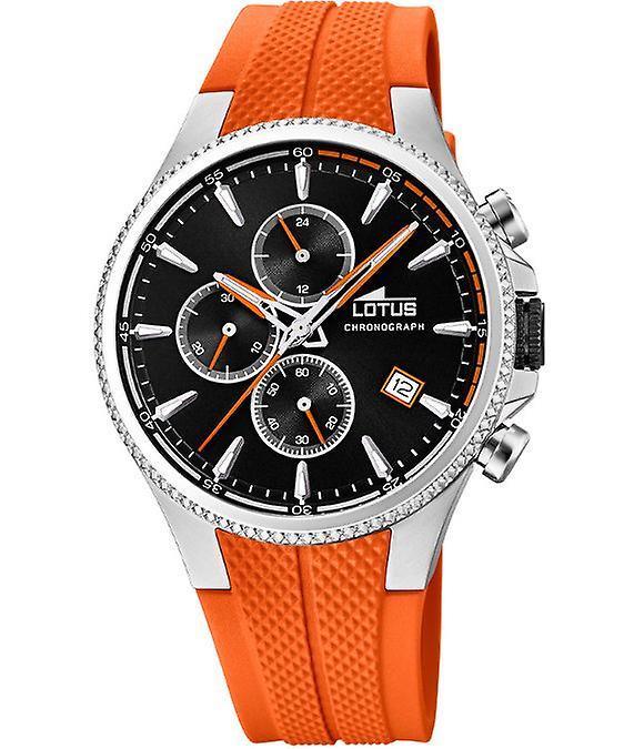 Lotus 18621-4 Reloj caballero caucho naranja