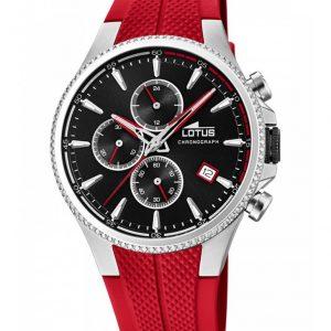 Lotus 18621/6 Reloj Caballero Caucho rojo