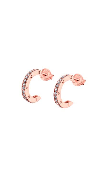 LP1885-4_3 Lotus Pendientes plata rosa de aro