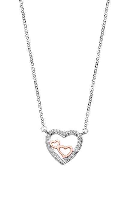 LP1856-1/1 Gargantilla lotus corazones