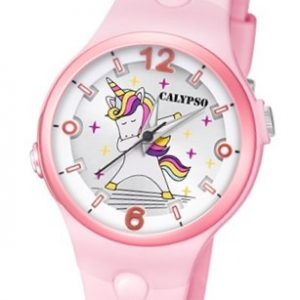 Calypso K5784/1 Reloj de Unicornio infantil rosa