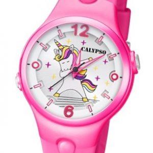 Calypso K5784-2 Reloj de Unicornio infantil fuxia