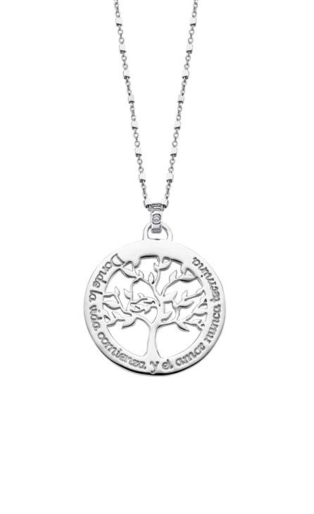 Collar Árbol de la vida liso Lotus