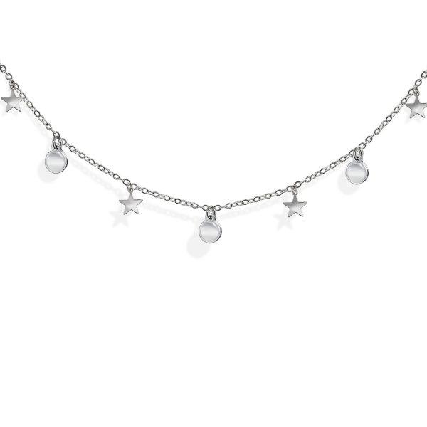 Collar de estrellas plata