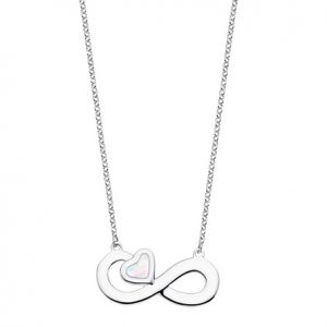 Collar infinito y corazon nacar Lotus lp1854-1-1