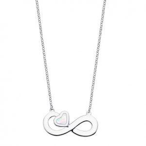 Collar infinito y corazon nacar Lotus lp1854-1-1