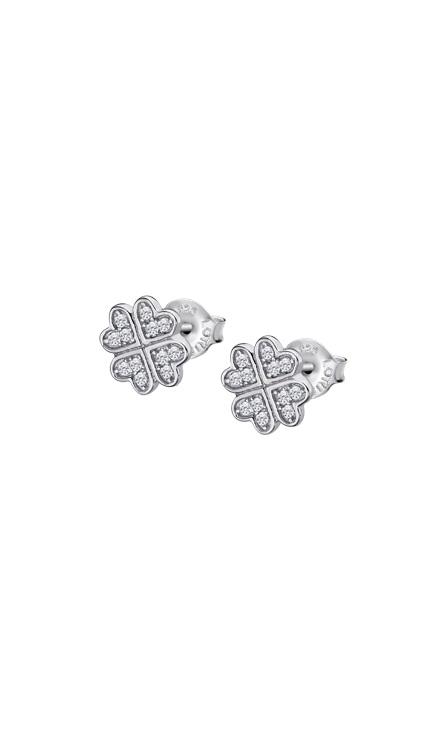 Pendientes trebol corazones en plata de Ley Marca Lotus lp3052-4/1