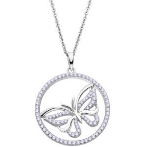 Collar con Mariposa de plata de ley marca otus LP3075-1_1