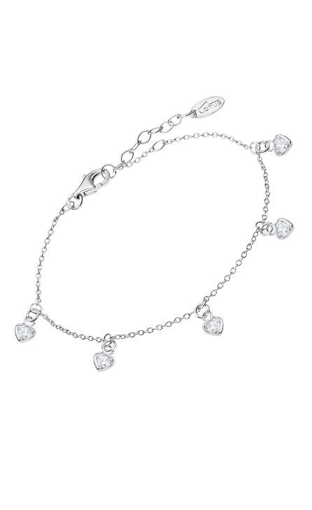 Pulsera de plata con colgantes de corazones de la marca Lotus Modelo lp3190-2/1